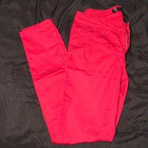 Forever 21 red skinny jeans
